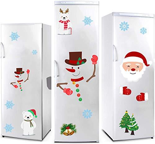 Sayala Frohe Weihnachten Schneemann Weihnachtsmann Wandtattoos Wandbilder abnehmbare Aufkleber Wanddeko Nikolaus Weihnachtsbaum Weihnachtsdeko (Schneemann)