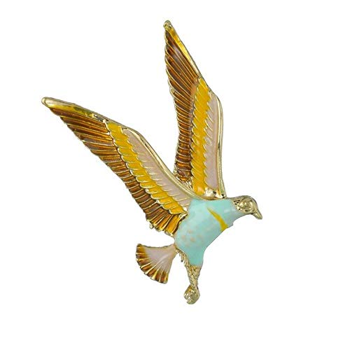 MZFRXZ Broche Trendy Vintage Blauw Emaille Vogel Broches Pins Zink Legering Dier Broches Voor Vrouwen Sieraden Suits Jurk Banket