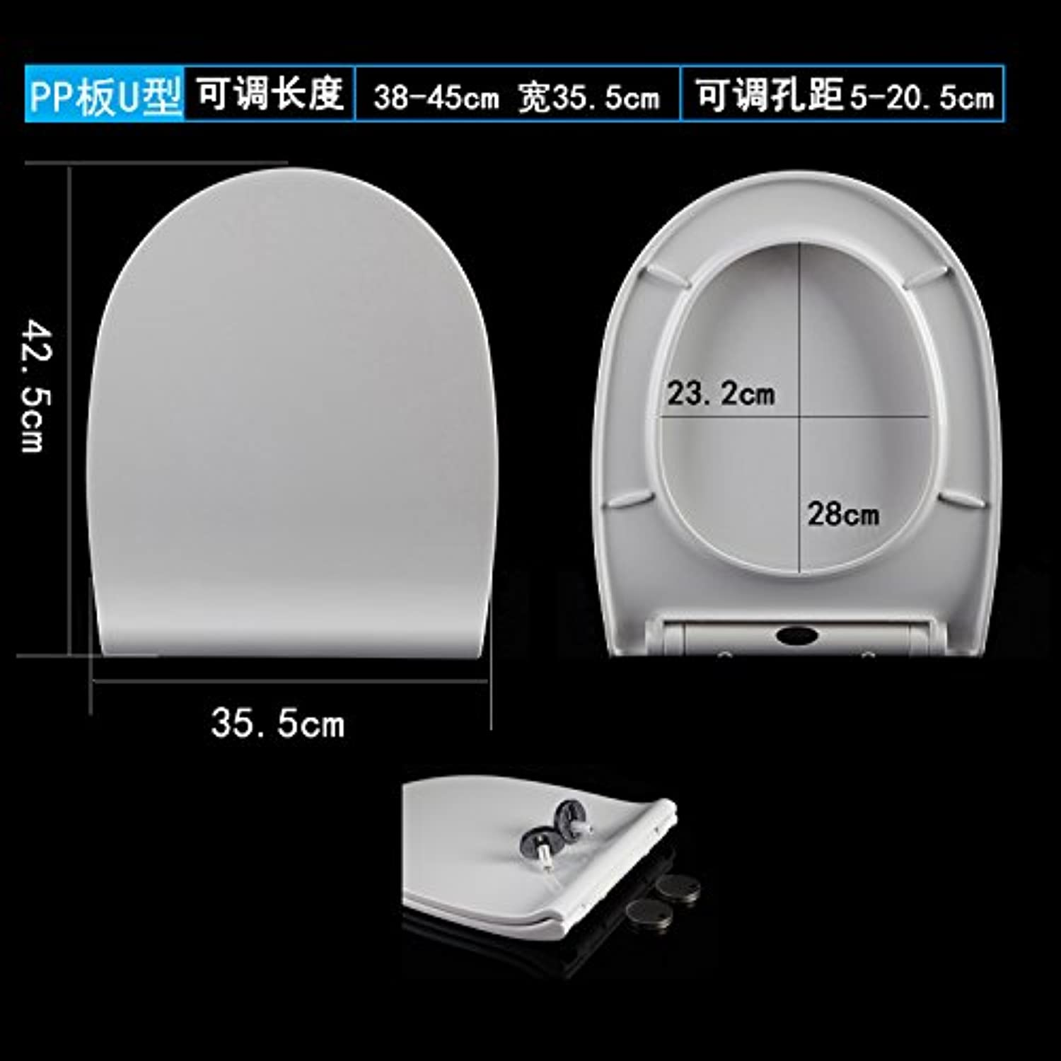 Topseh One Key Quick Dismantle Urea Formaldehyde Toilet Cover and Slow Down Old Type Thickening Seat Cover Gen