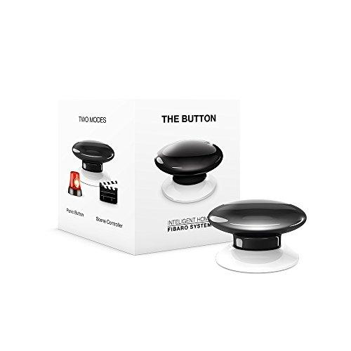 FIBARO The Button Z-Wave Plus Scene Controller On-Off Trigger, FGPB-101-2, Black