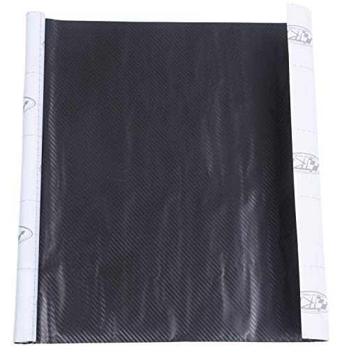 Dasorende 50 * 127cm 3D Carbon Fiber Vinyl Car Wrap Sheet Roll Film Sticker Decal Black