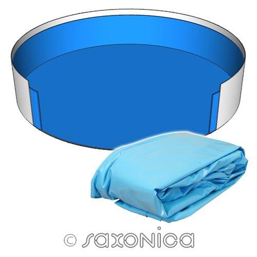 Poolfolie Innenhülle Rundpool 600 x 120 cm - 0,8 mm blau Rundbecken