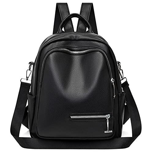 2021 Mochilas femininas de alta capacidade de grife de couro macio bolsa de moda feminina bolsas de viagem mochilas pretas