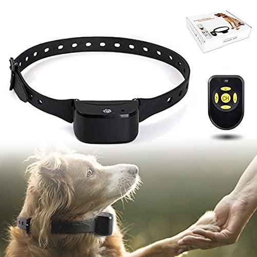 PINHBS Collares para Perros Anti Ladridos, IPX3 Dispositivo De Adiestramiento De Perros Recargable A Prueba De Agua con Control Remoto para Perros para Perros Grandes, Medianos Y Pequeños