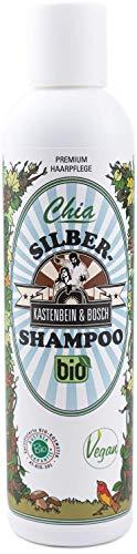 KASTENBEIN & BOSCH: Chia Silbershampoo - Bio-Haarpflege in Naturkosmetik-Qualität für blondes, blondiertes und graues Haar (200ml)