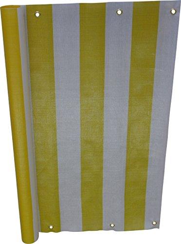 Angerer Paravista per Balcone Design Giallo-Bianco, 90 cm, Lunghezza: 8 Metro