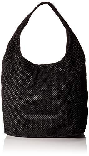 Unisa dames Zislote_20_rop stoffen en strandtas, zwart (black), 35x60x19 cm
