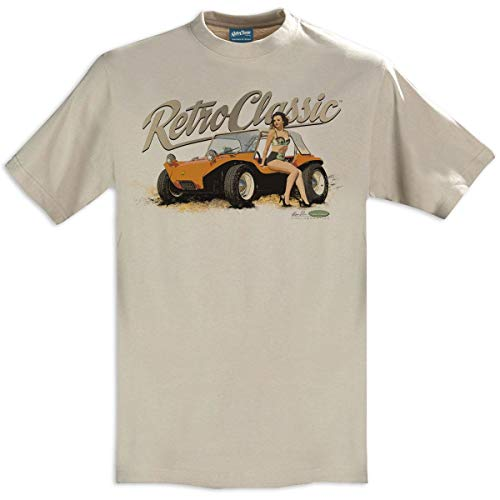 RetroClassic Meyers Herren T-Shirt Manx Beach Buggy Dave Warren Collaboration Gr. L, sand