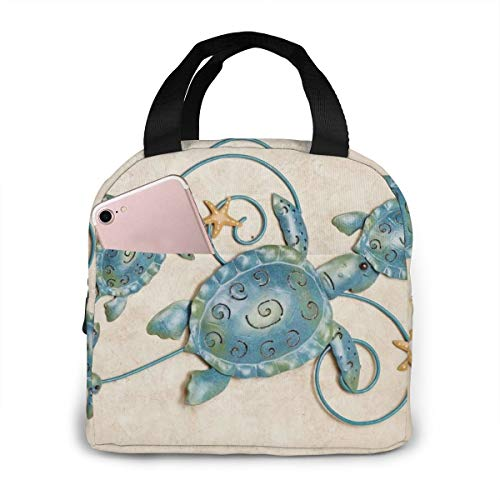 Shiba Inu Unisex Draagbare Herbruikbare Waterdichte Thermische Isolatie Lunchtas Picknick Bag Winkeltas Koelbox Eén maat Sea Turtle Metal Wall Art