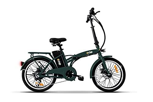 """the one Bicicletta Elettrica Pieghevole A Pedalata Assistita 20"""" 250w Easy Forest Green, Verde Unisex adulto, no size"""