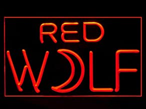 red wolf neon beer signs