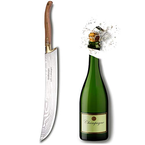 Uniharpa Japanese Pattern Steel Champagne Saber With Wooden Gift Box Wine Saber Champagne Sword Champagne Opener