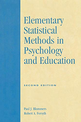 Elementary Statistical Methods in Psychology and Education, Second Edition