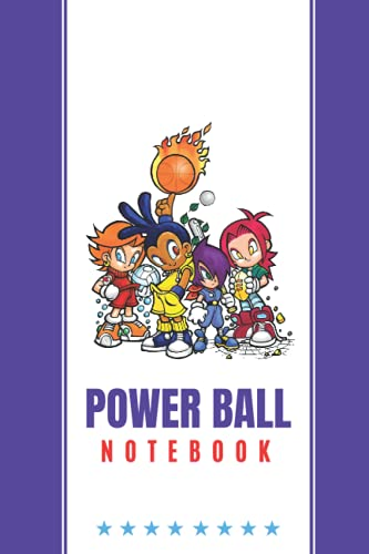 """Power Ball Notebook for Young Athletes: Anime Sports Notebook for Students On Training, 6\"""" X 9\"""", 120 Lined/Ruled Pages"""