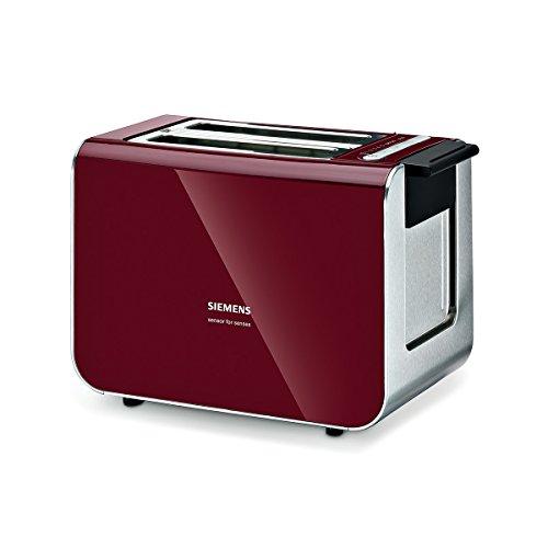 Siemens TT86104 Toaster / 860 Watt / für 2 Scheiben / wärmeisoliertes Gehäuse / cranberry red