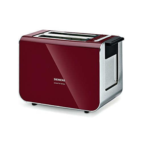 Siemens TT86104 Broodrooster, 860 Watt, Voor 2, Cranberry Red
