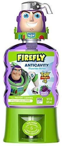 FIREFLY Buzz Lightyear Anticavity Fluoride Rinse Bubblegum Flavor, Bubble Berry, 16 Fl Oz