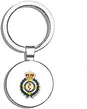 PRS Vinyl Badge Shaped London Ambulance Service - UK England Logo Crest Double Sided Stainless Steel Keychain Key Ring Chain Holder Car/Key Finder