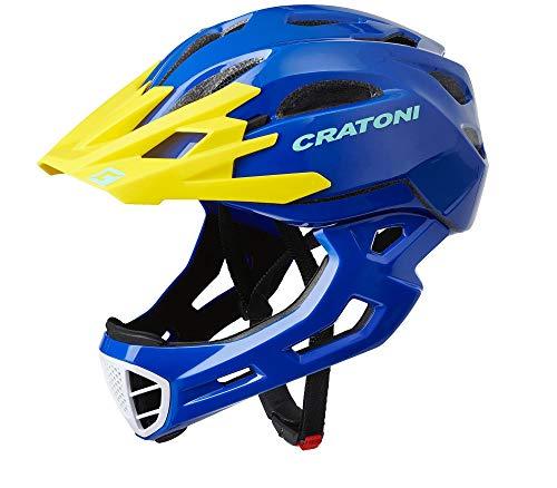 Cratoni C-Maniac Freeride Helm Blue/Yellow Gloss Kopfumfang L/XL | 58-61cm 2020...