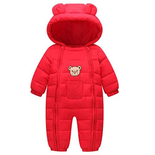 JiAmy Baby Snowsuit Hooded Romper Winter Outfits Cartoon Bear Boys Girls...