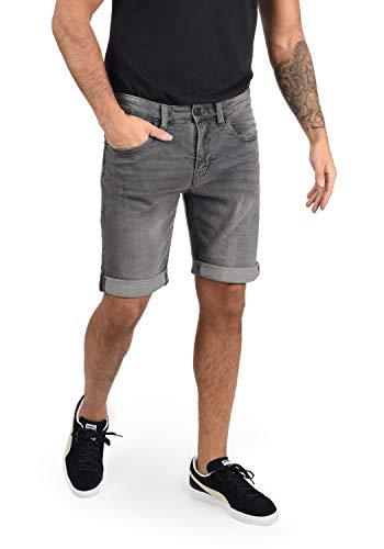 Indicode Quentin Herren Jeans Shorts Kurze Denim Hose Mit Destroyed-Optik Aus Stretch-Material Regular Fit, Größe:L, Farbe:Light Grey (901)