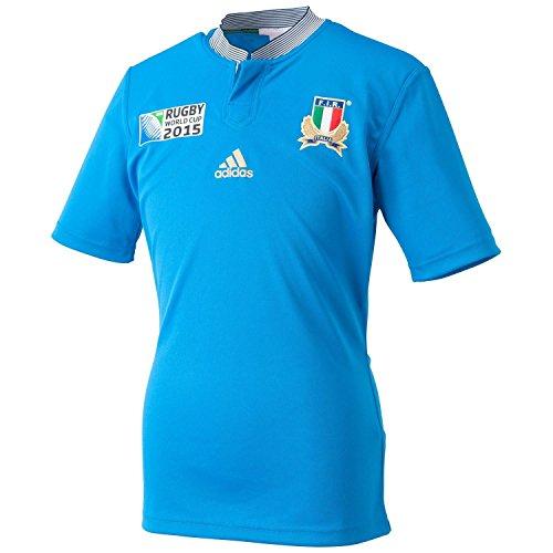 adidas YB RWC I H JSY BLE–Trikot Rugby Italien Jungen 15-16 A blau