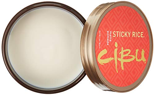 CIBU Sticky Rice Matte Pomade with Medium Hold, 3 oz. - Professional Styling Clay