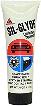 AGS SIL-Glyde Multi-Purpose Weatherproofing Lubricating Compound for All Surfaces - 4 oz Tube: image