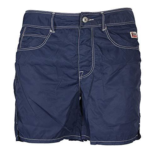Roy Roger's - Pantaloncino Mare Uomo Beach Nylon Washed Blu - 36