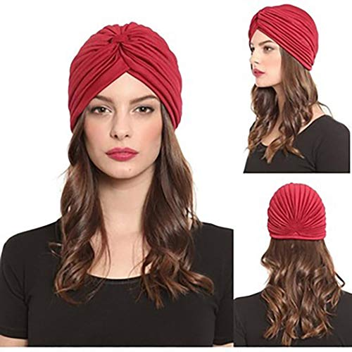 Bohend Boho Head Wrap Rot Criss Cross Weadwear Turban Indien 5 Packung Haarband Für Frauen Und Mädchen.
