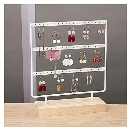 Organizador de joyas Joyero, organizador de pendientes, organizador de joyas, pendientes y collares, organizador de joyas (negro, blanco, 3 capas) cajas de joyería (color A: A)