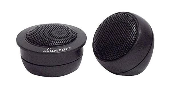 """Lanzar Upgraded 0.5/"""" Pair Tweeter Neodymium Flush Surface Mount Magnet Powerful 100 Watt 1.3-22 kHz Frequency Response High-Density and 12dB Crossover Network w// 3 Mounting System VST"""