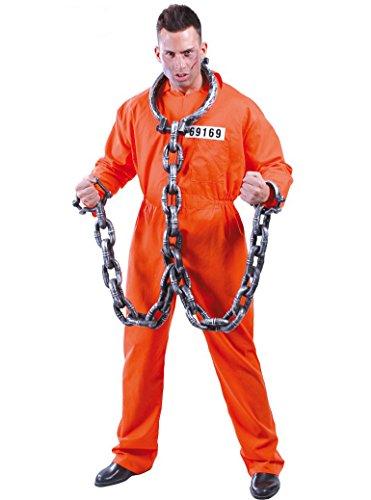 Guirca - Hannibal Lecter Herren-Kostüm, Orange, Einheitsgröße, 80435
