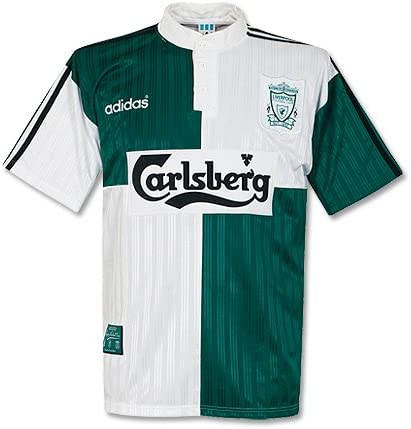 adidas 95 – 96 Liverpool Away Camisa – Used, Hombre, Verde ...
