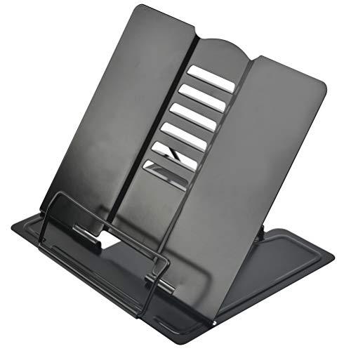 Leggio Libri Regolabile Supporti per Libri da Cucina in Metallo, Leggio da Letto per Libri Leggio Ricette da Cucina Supporto Regolabile per Ricettario con 6 Altezze Regolabili per iPad Tablet 21*19cm