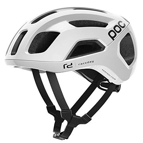 POC Ventral Air Spin Fahrradhelm Unisex Erwachsene Weiß Hydrogen White Raceday, Med