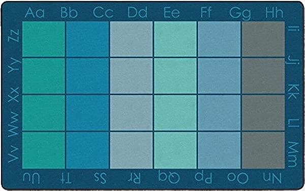 Childcraft 字母正方形地毯 8X12 英尺矩形酷
