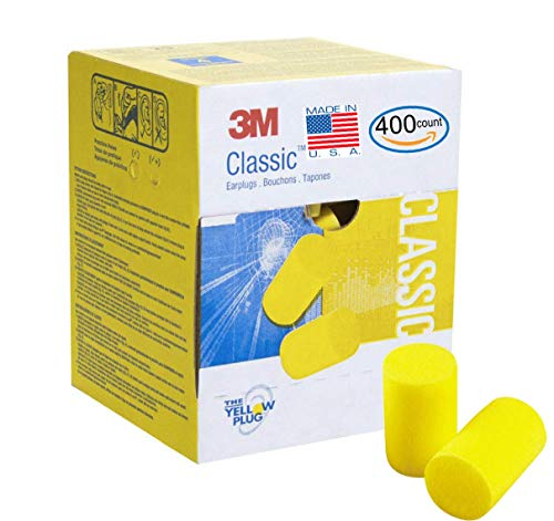 3M Classic Earplugs 200 Pair (400 Count) (not Individually Wrapped) in Bulk Value Pack, E.A.R Foam Ear Plugs