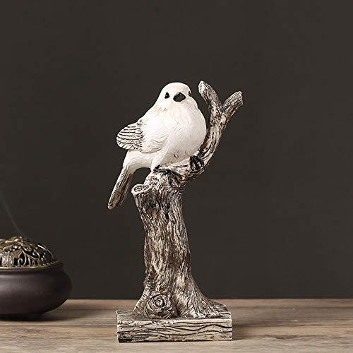 Tuin dierlijke sculptuur Ornament Standbeelden Standbeeld Ornament Dier Standbeeld Vogel Decoratie Thuis Eenvoudige TV kabinet Wijnkast Decoratie Boom Tak Woonkamer Decoratie