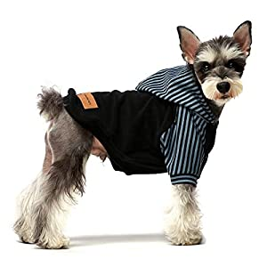 Fitwarm Pet Clothes Dog Hoodies Puppy Pullover Cat Hooded Shirts Sweatshirts Black Medium