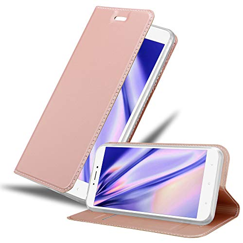 Cadorabo Funda Libro para Xiaomi Mi MAX 2 en Classy Oro Rosa - Cubierta Proteccíon con Cierre Magnético, Tarjetero y Función de Suporte - Etui Case Cover Carcasa