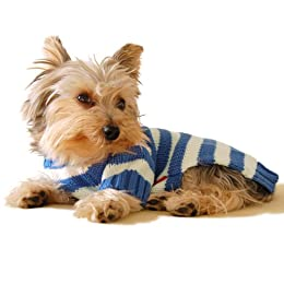 dark blue stripe dog jumper pet clothing