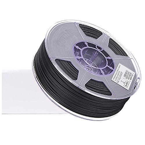 Filamento de fibra de carbono de Nylon 12 Filamento PA-12CF Filamento 1.75 mm Filamento de la impresora 3D 1kg 2.2lbs, 85% PA12 + 15% de fibra de...