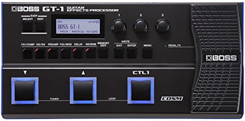 BOSS GT-1 Guitar Effects Processor, Premium BOSS Sound Engine Squeezed into a Light and Compact FLoor Unit
