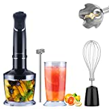 5-in-1 Immersion Hand Blender, MEGAWISE Powerful 800 Watt 12-Speed Stick Blender with Sturdy Titanium Plated...