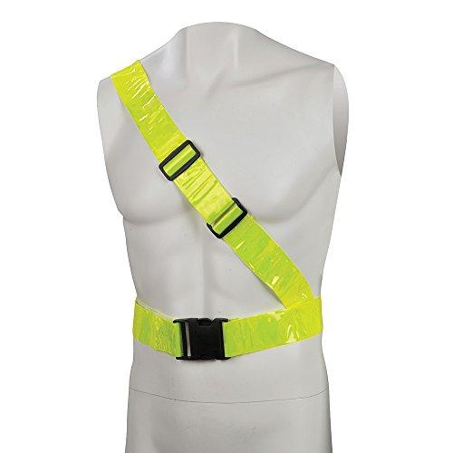 Silverline 705048 Reflektierender PVC-Warnschutzgürtel mit Schulterband 78–108 cm
