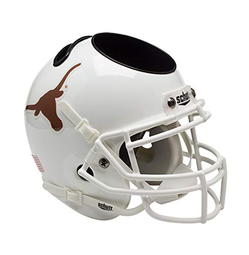 Schutt NCAA Schreibtischorganizer, Football-Helm, Unisex-Erwachsene, weiß, Texas Longhorns