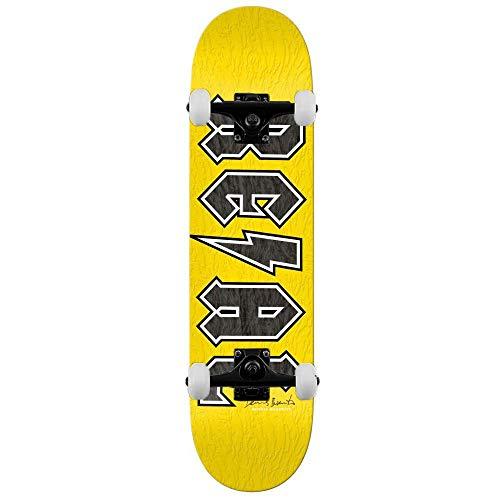 Real Skateboards Busenitz Deeds Signature Komplett-Skateboard, 21 cm, Gelb