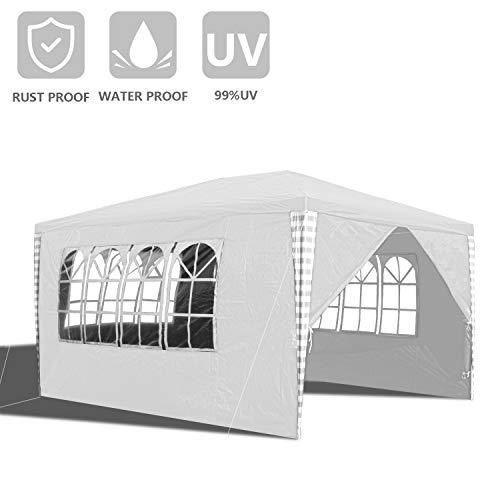 wolketon Pavillon 3x4M wasserdicht inkl. Tasche UV-Schutz 50+pavillon Hochwertigem Gartenzelt Partyzelt