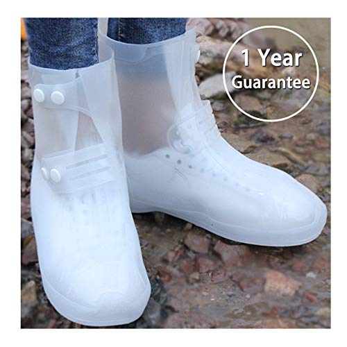 ARUNNERS Women Rain Boots (White, 2XL)